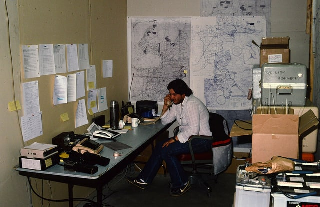 1988. Dispatcher. Western spruce budworm control project. Warm Springs Indian Reservation.