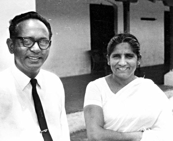 Ireneous and Sulochana Joseph, Durg, India, 1972