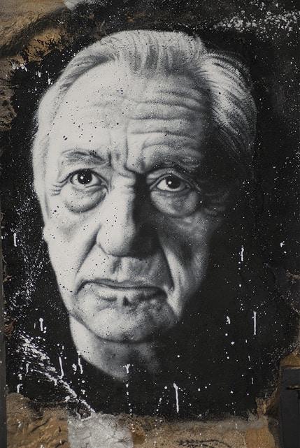 Pierre Soulages, painted portrait _DDC0037