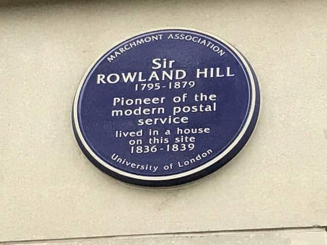 Sir Rowland Hill plaque