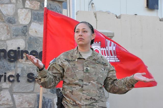 U.S. Army. Master Sgt. Elizabeth Blackburn promotion ceremony