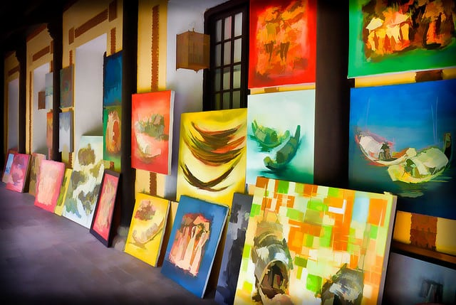An amazing Art Gallery in Hue stuffed with hundreds of extremely varied Paintings by just two Artists